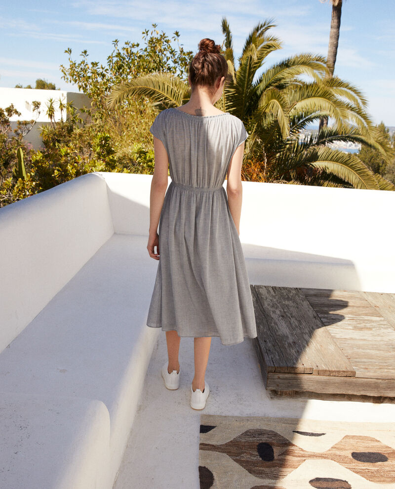 Mid-length dress Navy/white Idem
