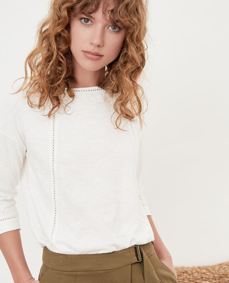 T-shirt with fancy details Blanc Florin