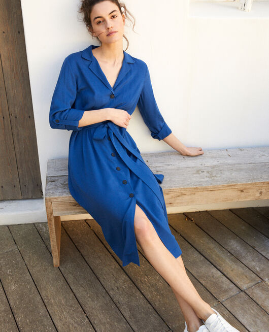 Plunge dress  IMPERIAL BLUE