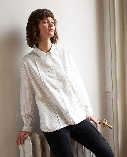 Straight-cut shirt White