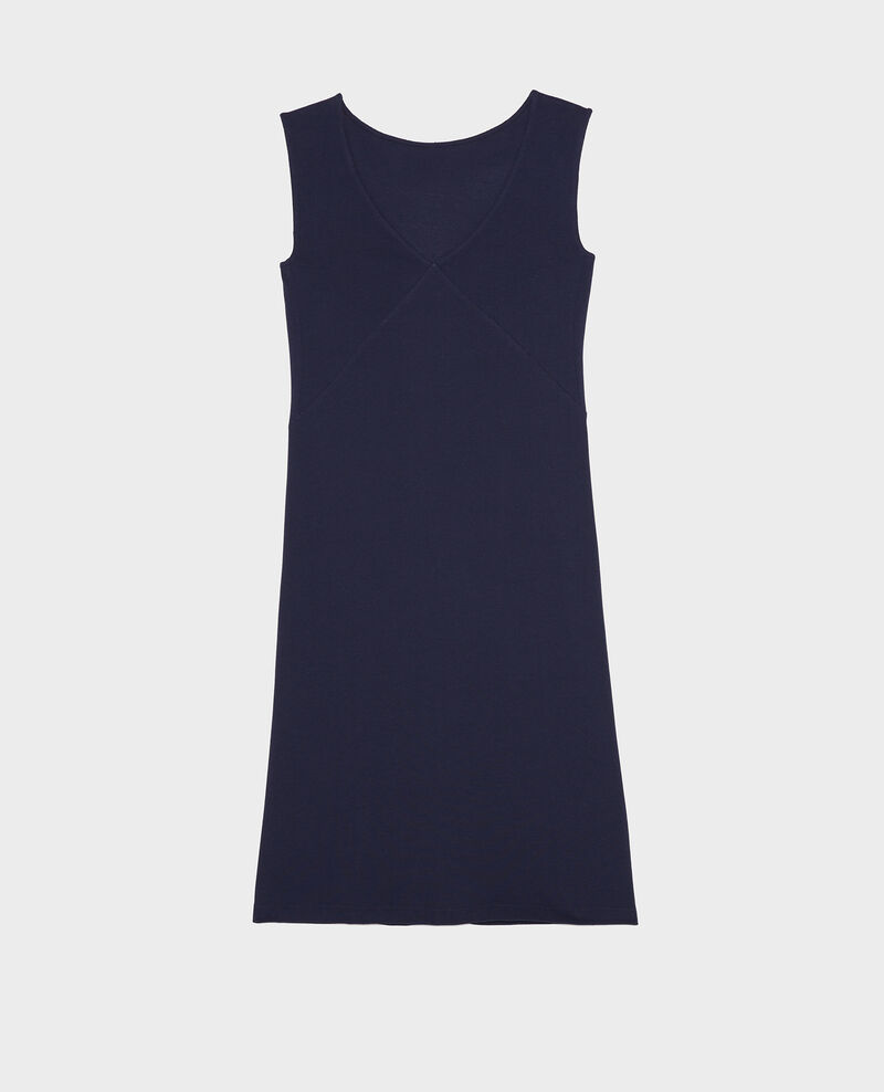 Cotton dress Maritime blue Liesse