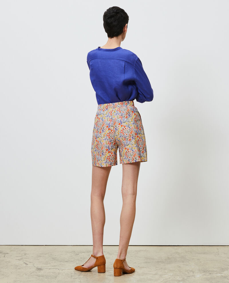 Printed high-waisted shorts Prairie gardenia Nassy