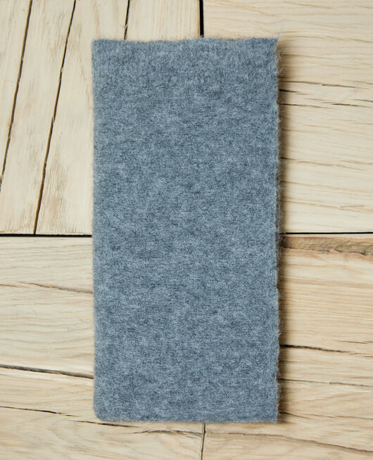 Fluffy scarf HEATHER GREY