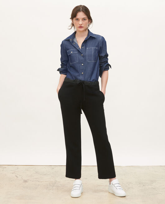Denim shirt with asymmetric pockets DENIM BRUT
