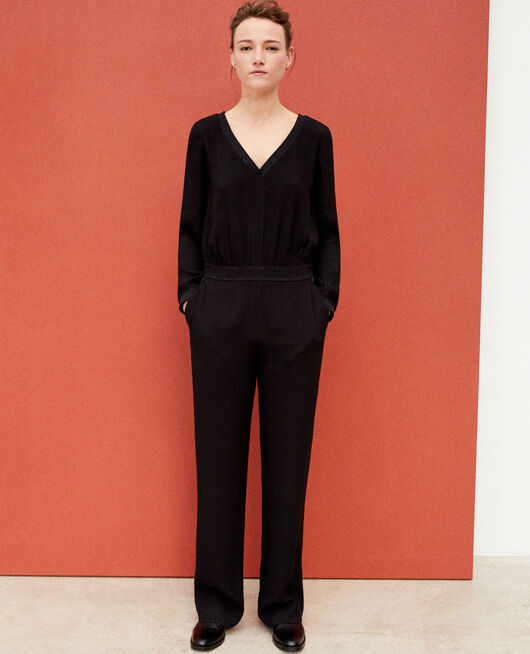 Lurex blend jumpsuit Black