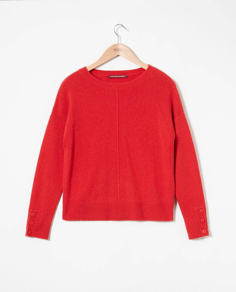 Jumper with buttons on the sleeves Molten lava Jypie