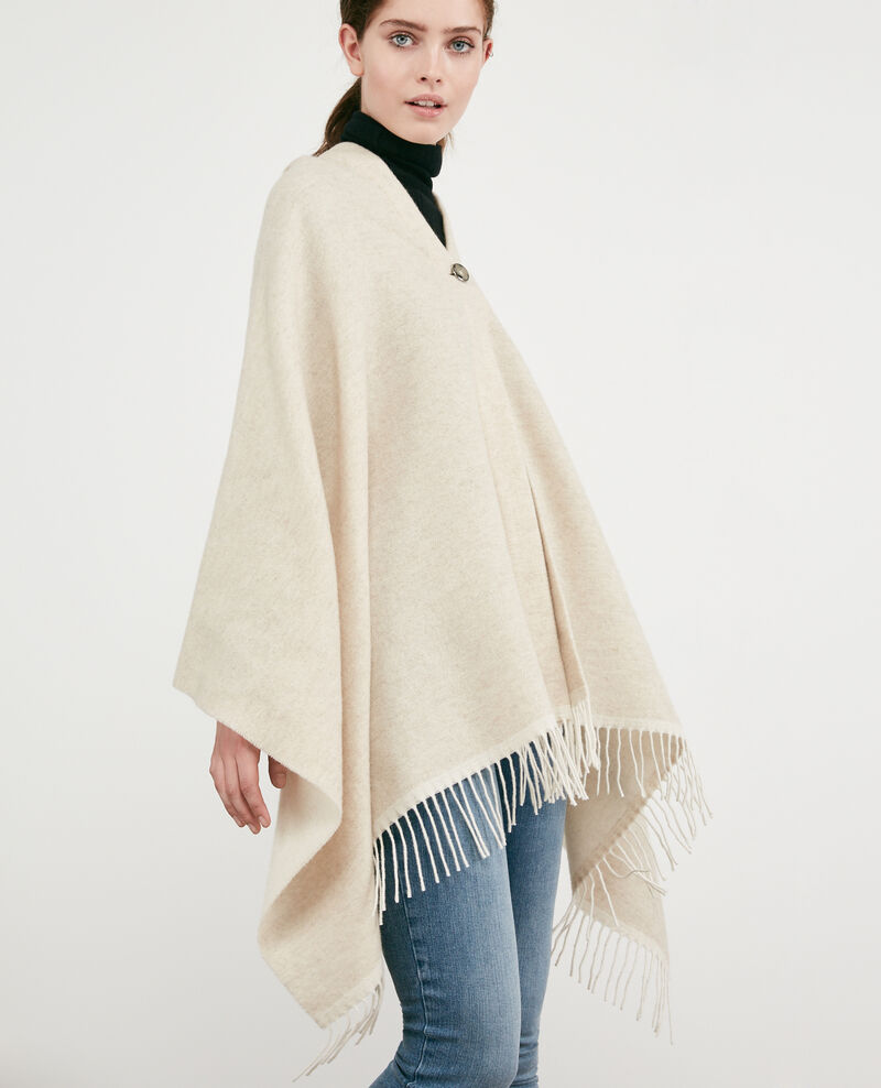 Cardigan-stole with wool Dune Double