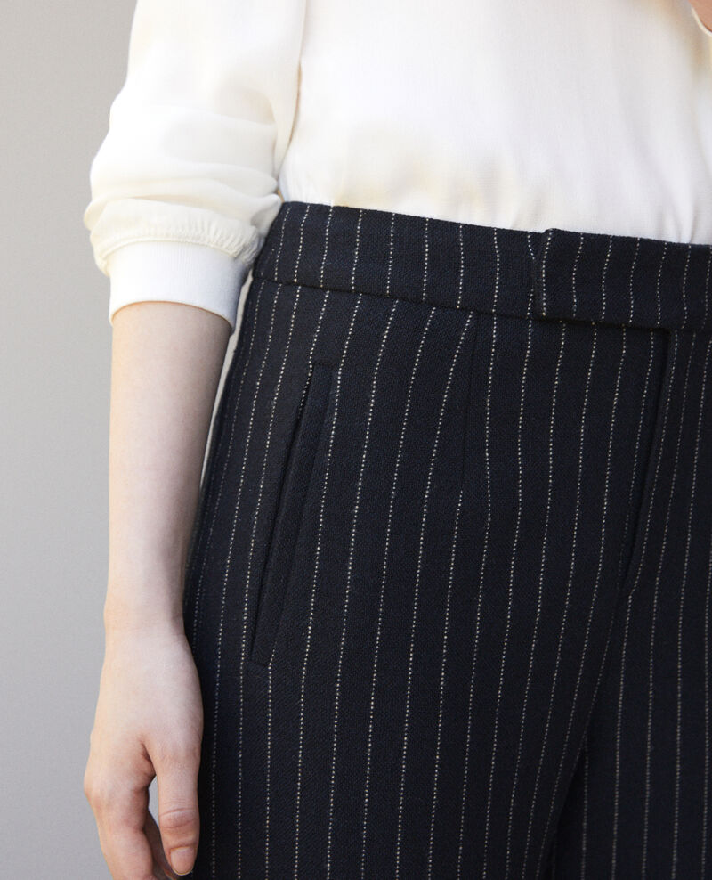 Thick trousers Navy/off white Gylopa