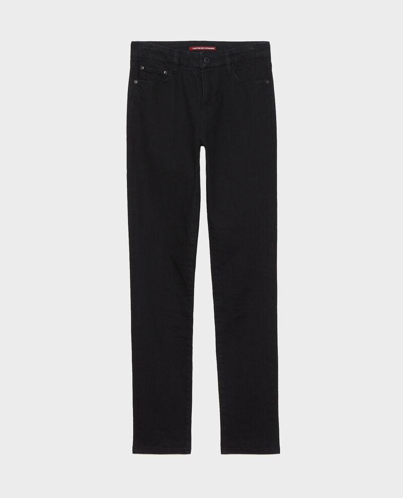 LILI - SLIM - Black stretch jeans Noir denim Nanblack