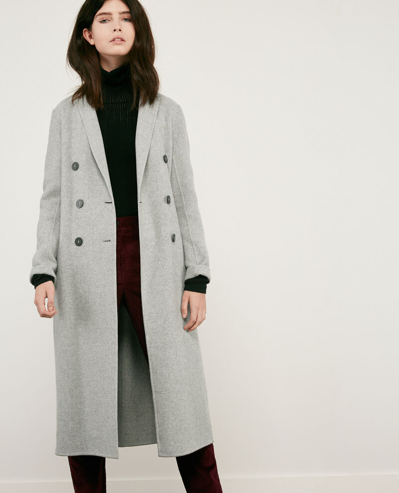 Double-faced wool coat Light grey Delicieux