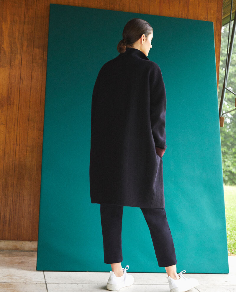 Coat with stand-up collar Blue Gexpresso