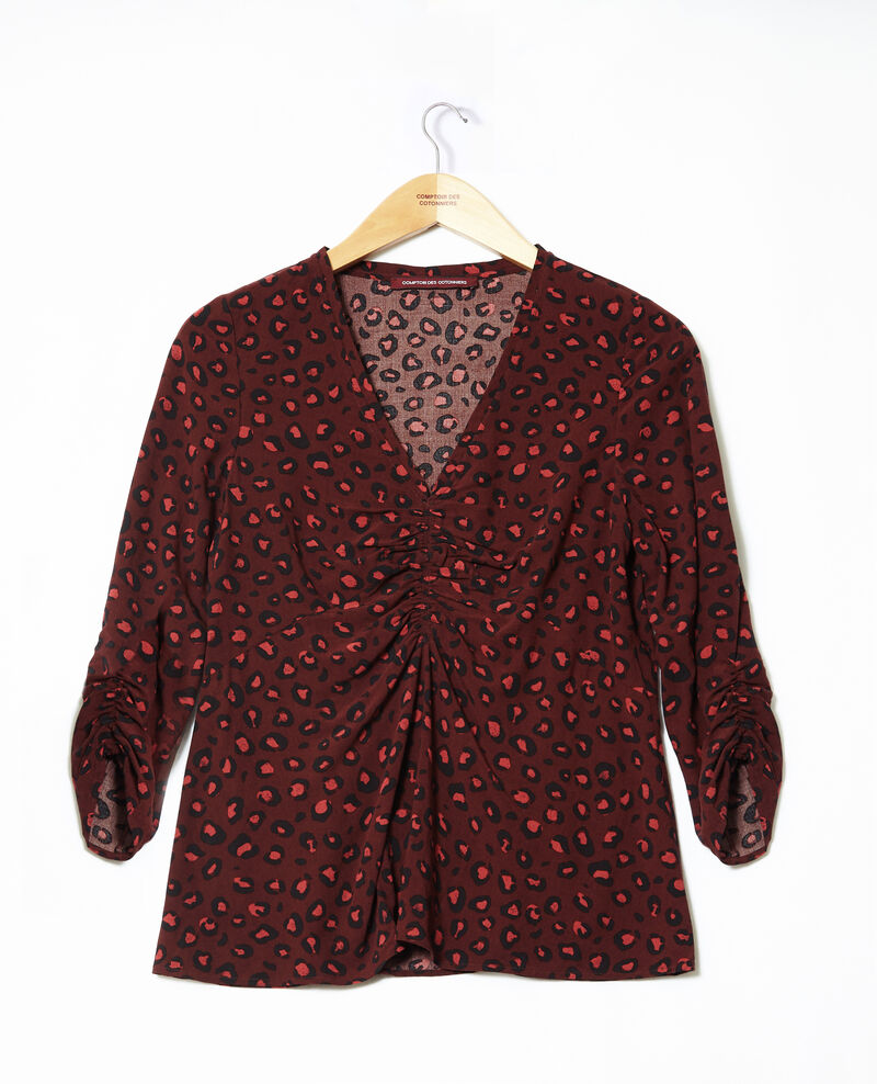 Frilly blouse Brown 9banthere