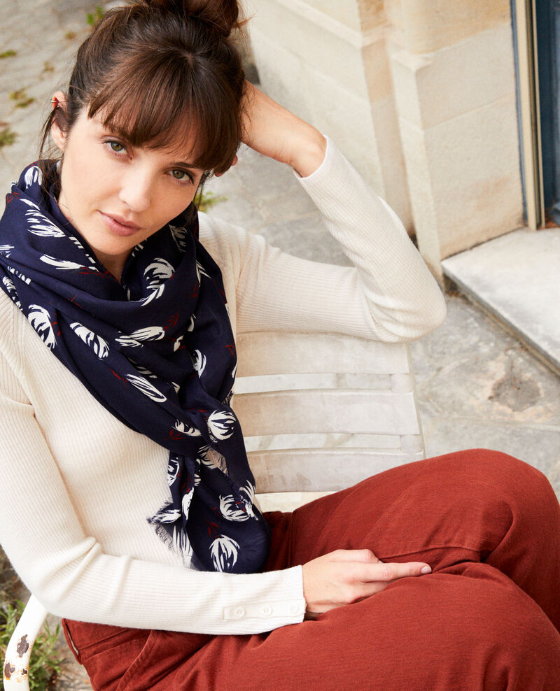 Printed scarf Tulip evening blue Julip
