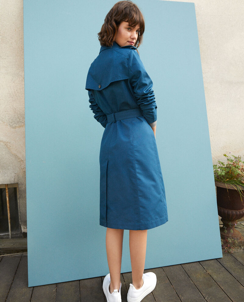Mid-length trench coat Majolica blue Gabien