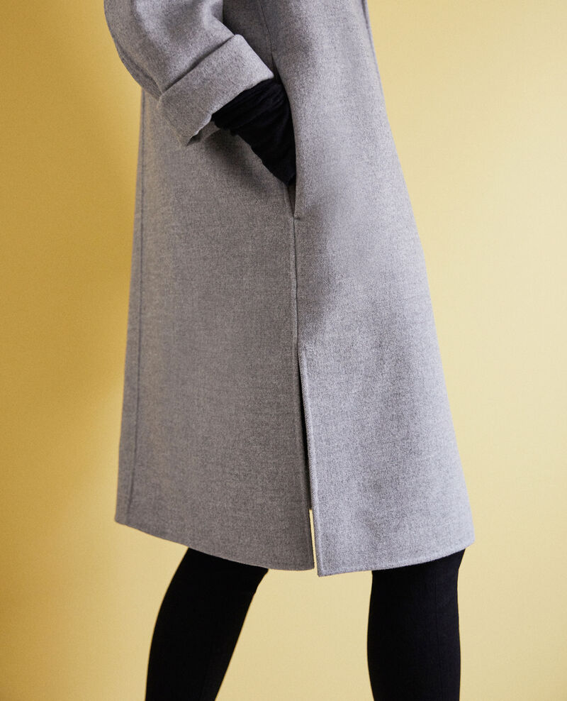Double-sided coat Light grey Irelie
