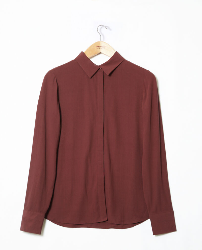Straight-cut shirt Brown 9danimo