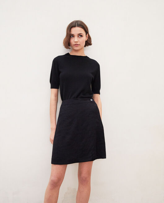 Wrap skirt NOIR