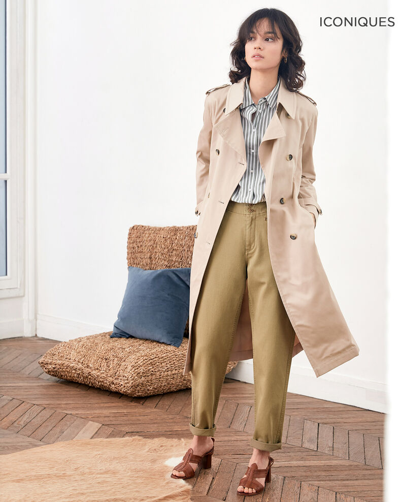 Iconic fit Trench coat Tan Fadja
