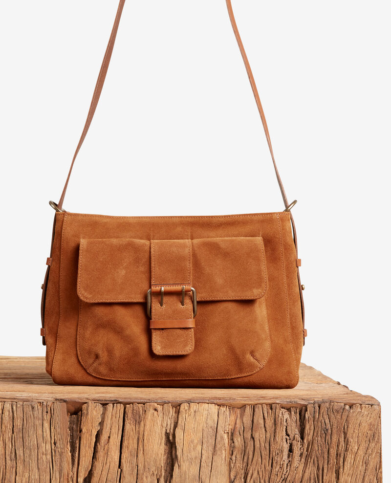 Suede bag Cognac Face
