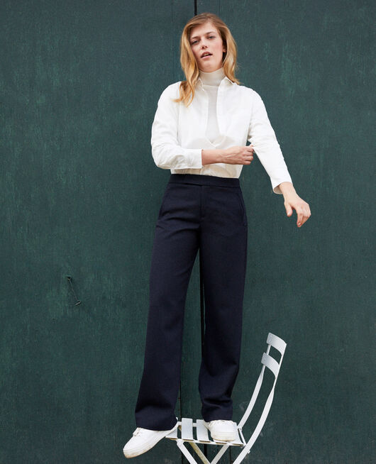 Straight-leg trousers DARK NAVY