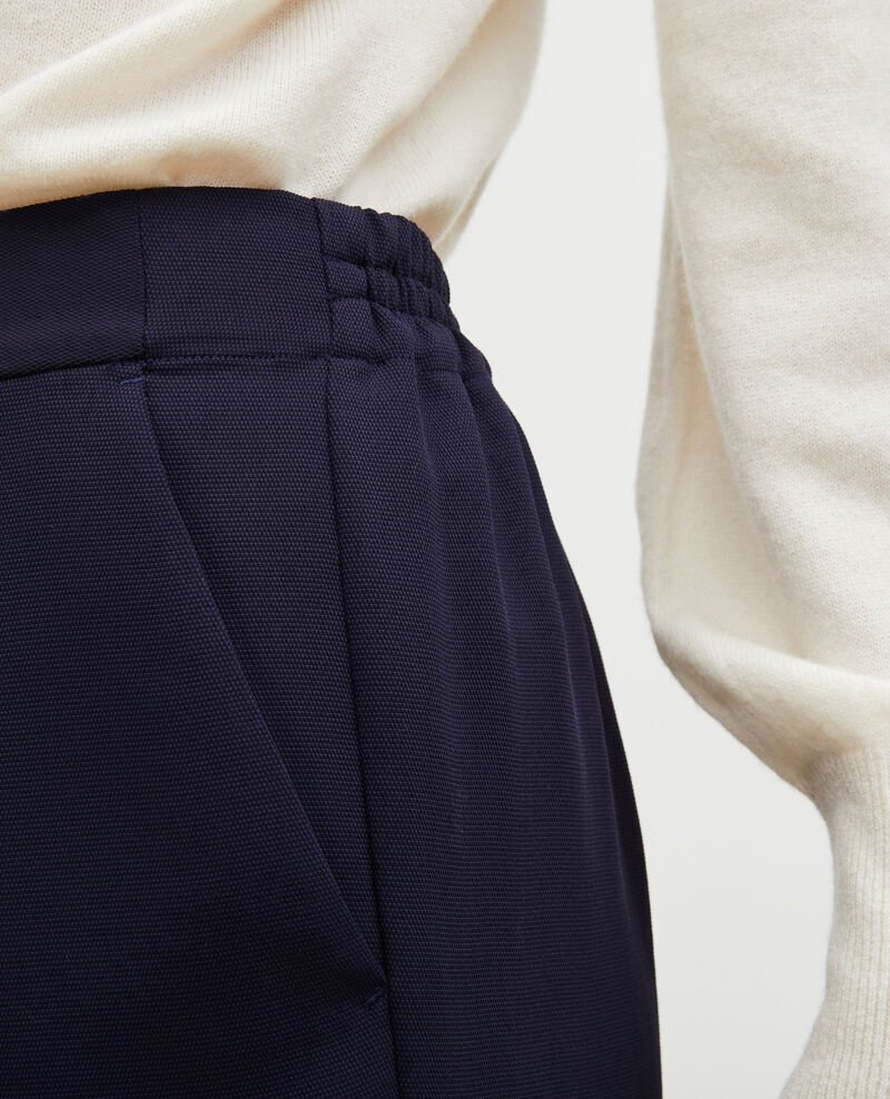 Loose elasticated polyester trousers Maritime blue Luant