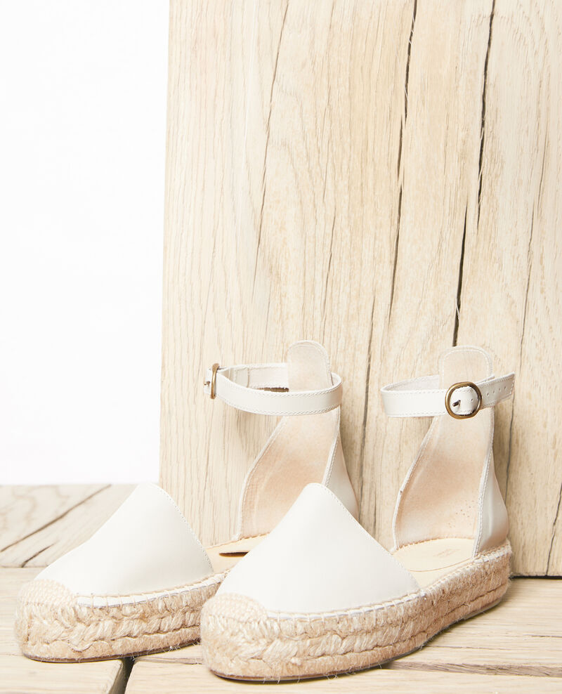 Espadrilles with leather strap Natural Iforma