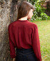 Blouse made of silk with lace detail Cabernet Javant