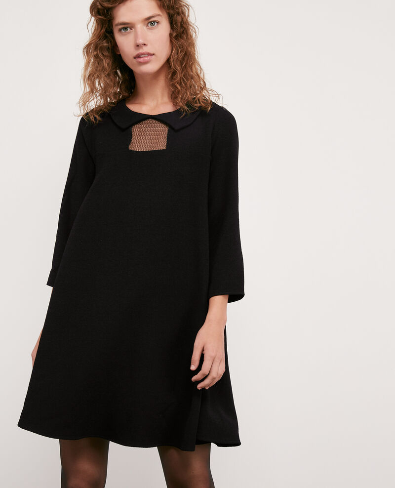 Peter Pan collar dress Noir Donatella