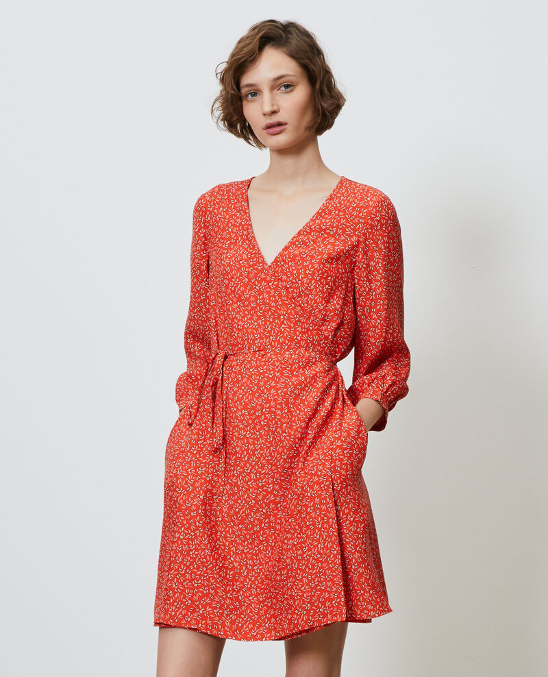 Floral silk wrap dress Clochette spicy Nireclos