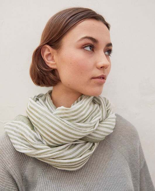 Striped scarf BLANC/LIGHT CO