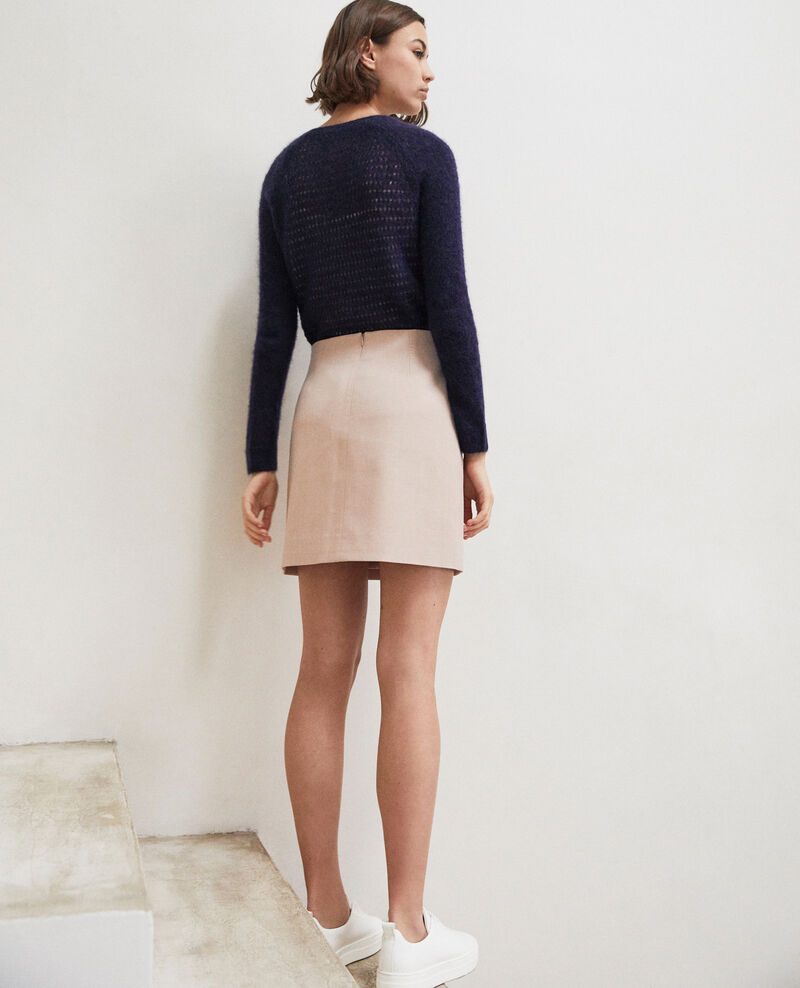Mini skirt with buckle Beige Istanbul