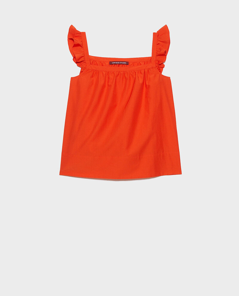 Cotton and silk strappy top Pureed pumpkin Nymphie