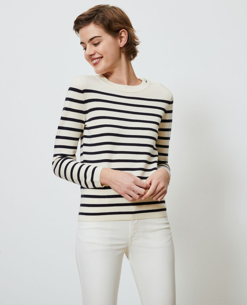 Striped wool jumper Str_jetstream_nt_sky Liselle