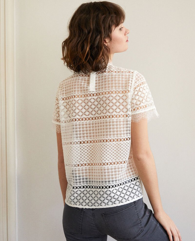 Openwork lace blouse White Garianelle