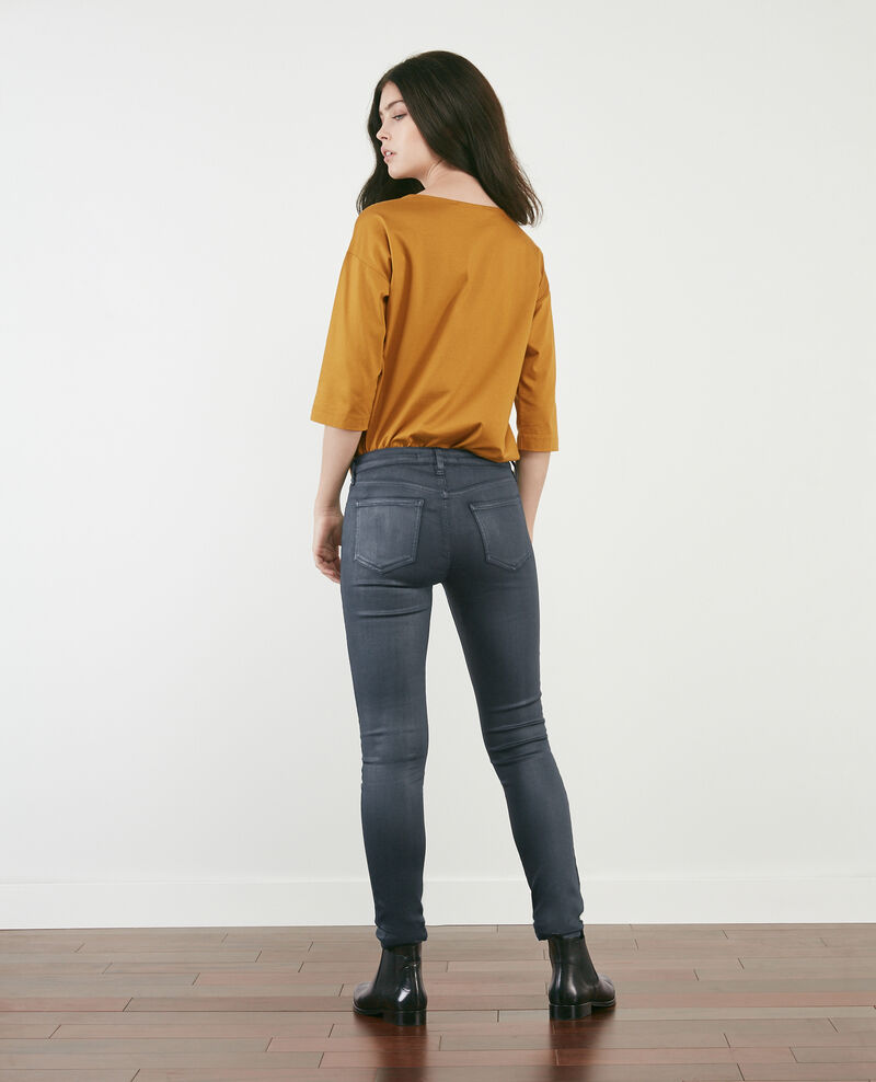 Skinny coated jeans Navy Didi
