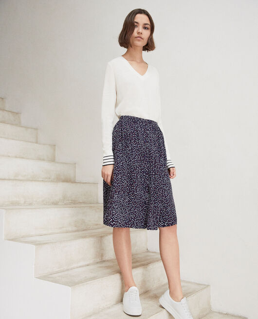 Midi skirt DOT PRINT NAVY