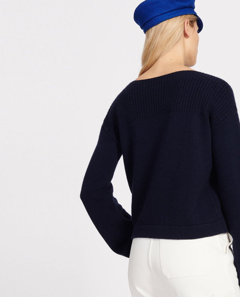 Wool and cashmere jumper Maritime blue Lalane