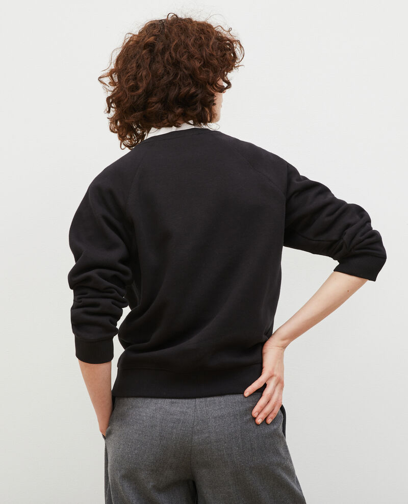 Fleece sweatshirt Black beauty Madeleina
