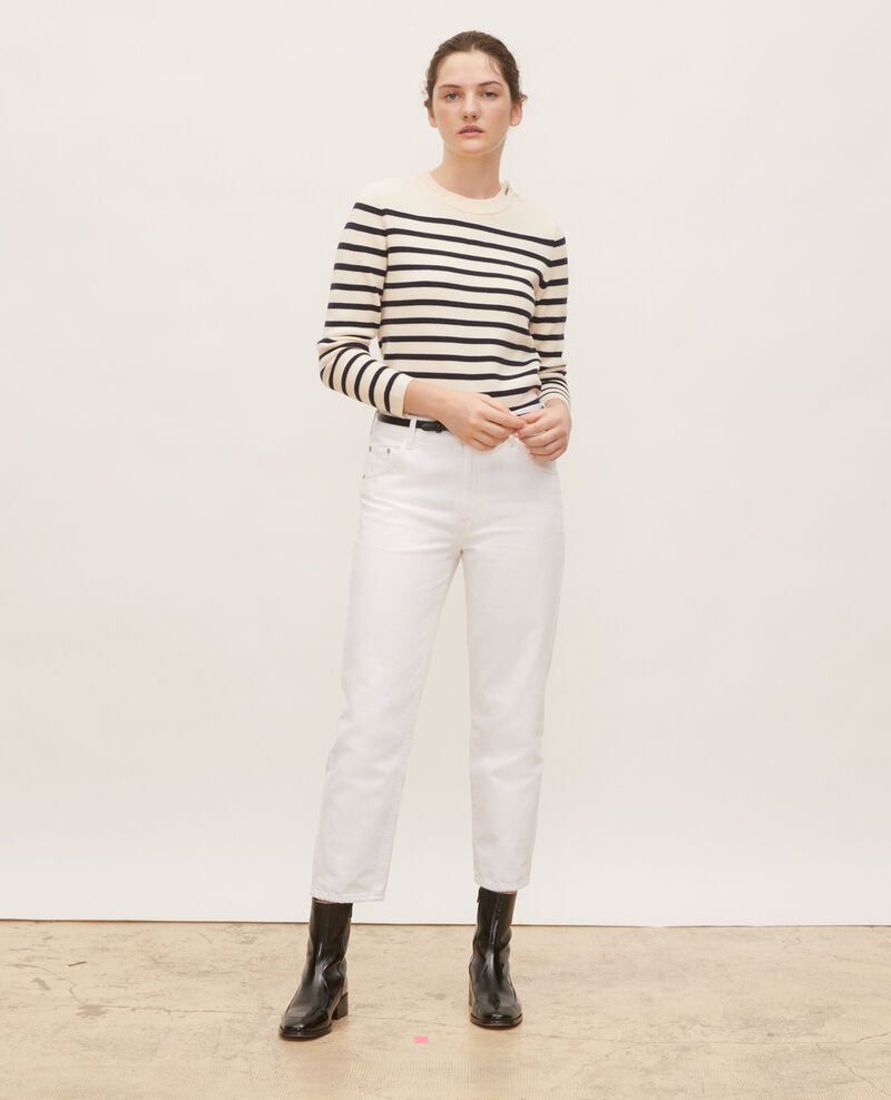 TOMBOY - Loose, mid-rise 5-pocket jeans Winter white Meroni