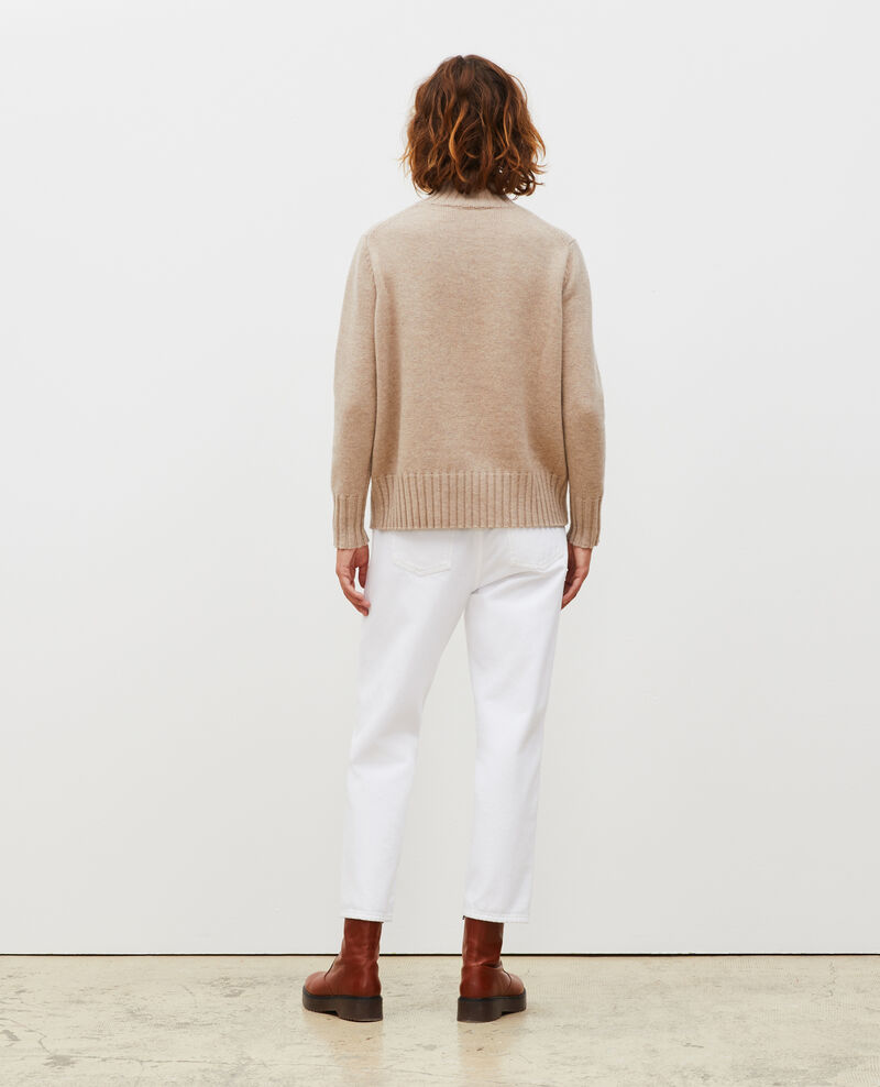 Chunky ribbed turtleneck jumper Latte Marques
