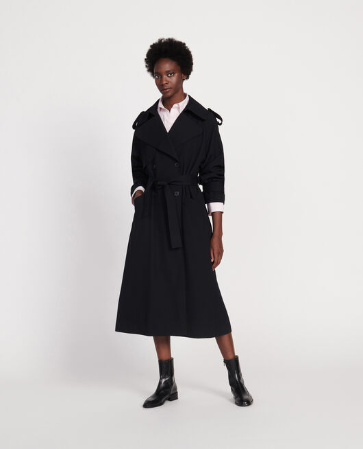 Wool trench coat NOIR