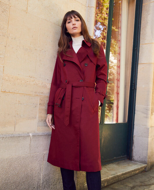 Timeless trench coat CABERNET