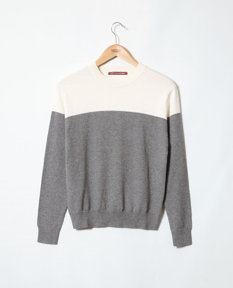 Two-tone jumper Medium heather grey Ilene