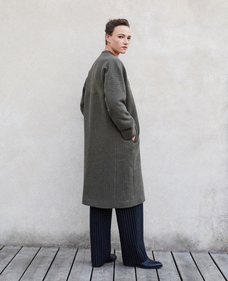 Loose coat Olive night Giovanna