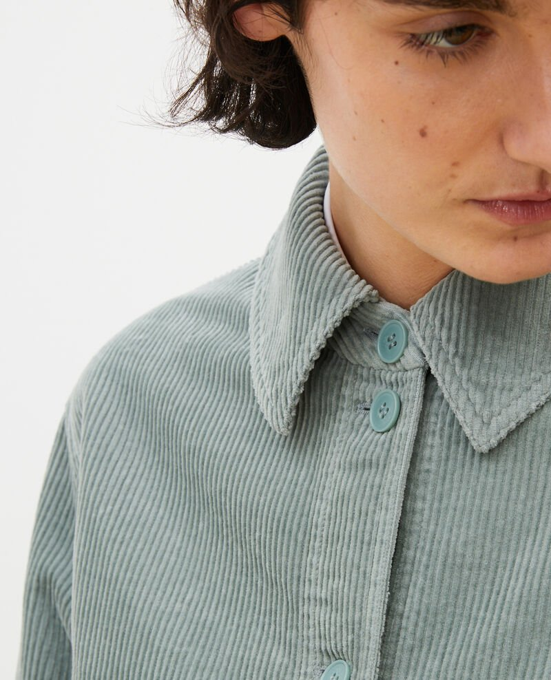 Corduroy work jacket Chinois green Malipine