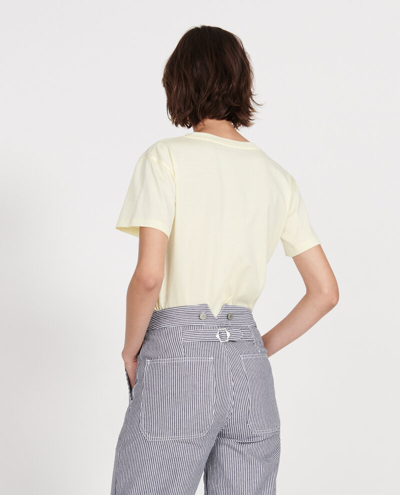 Cotton t-shirt Tender yellow Laberne