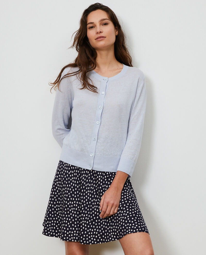 Linen and organic cotton cardigan Heather Lagardi