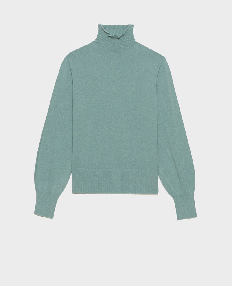3D fine cashmere turtleneck jumper Chinois green Mane