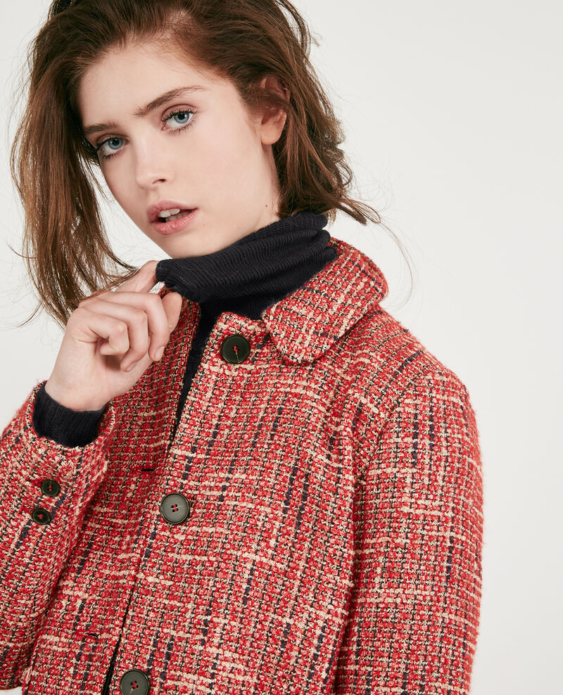 Tweed jacket Orange red Djimmy