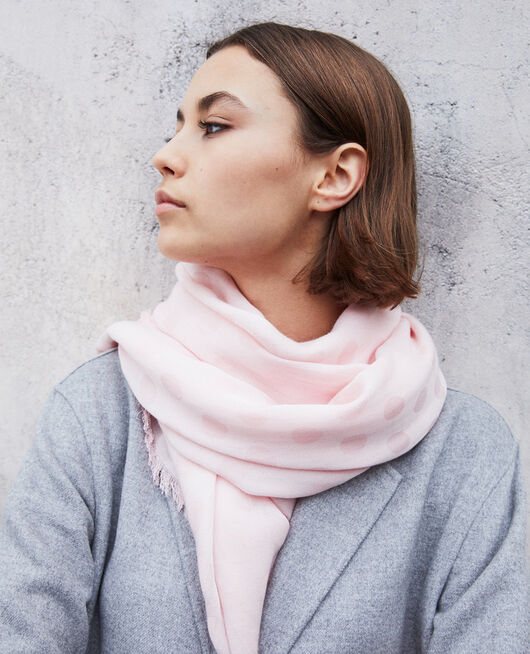 Polka dot scarf Rose